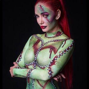 Frankenstein's Bride /zombie costume leotard